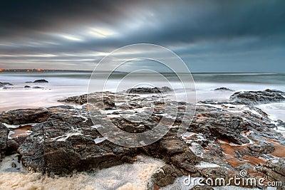 Rocky landscape of Atlantic ocean
