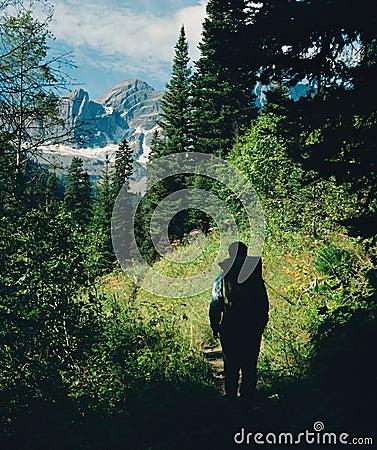Free Rocky Mountain Hiker BC Canada Royalty Free Stock Photos - 6843218
