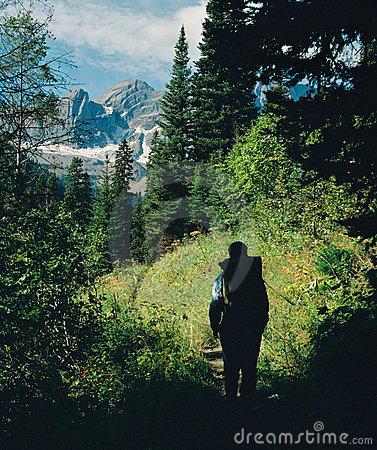 Rocky Mountain Hiker BC Canada