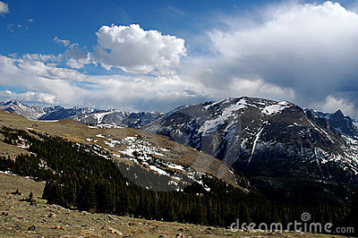 Rocky mountain snow clouds