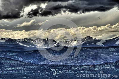 Rocky mountain summer storm
