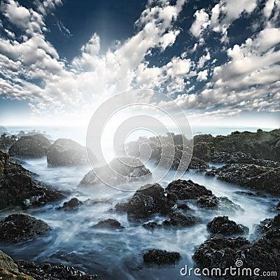Rocky Ocean Beach Sea Shore