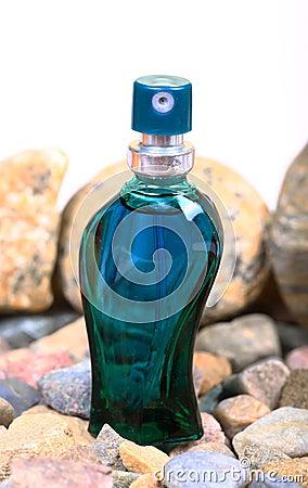 Rocky perfume bottle