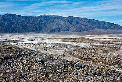 Rocky Salt Flats in Death Valley