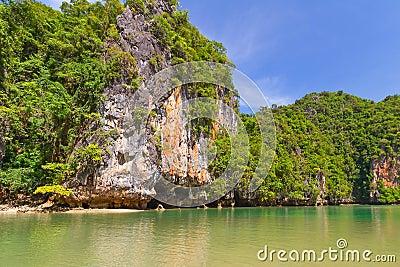 Rocky scenery of Phang Nga National Park
