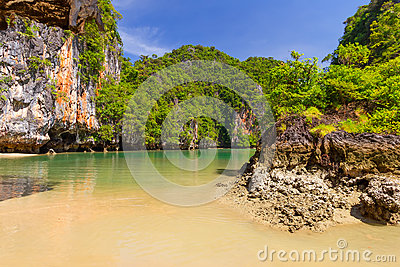 Rocky scenery of Phang Nga National Park