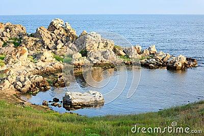 Rocky sea lagoon