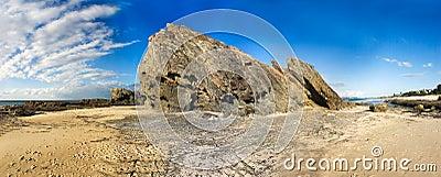 Rocky sea & sand scape