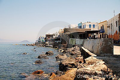 Rocky seafront, Nisyros Editorial Photo