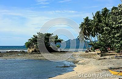 A rocky shore