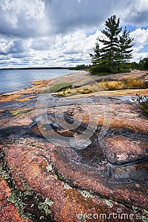 Rocky shore in Georgian Bay