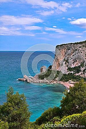 Rocky shore sardinia Italy
