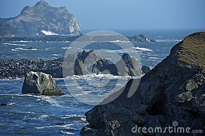 Rocky Shoreline in California