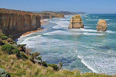Rocky shoreline on the Great Ocean Road, Australia