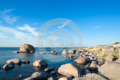 Rocky shoreline of Öland