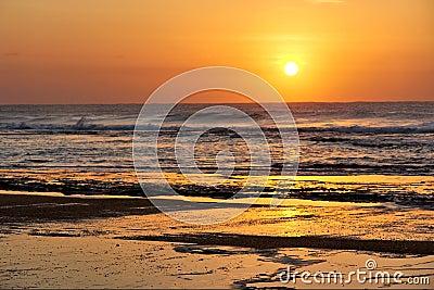 Rocky St. Lucia beach - sunrise