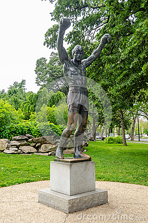Rocky Statue in Philadelphia Editorial Stock Photo