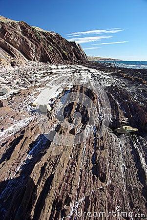 Rocky strata in Hallet Cove