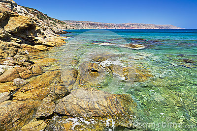 Rocky Vai beach on Crete