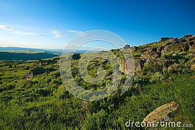 Rocky Wyoming Hillside