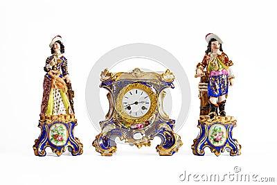 Rococo Meissen porcelain clock