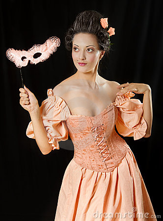 Free Rococo Woman In Historical Costume With Crinoline Stock Photo - 20995920