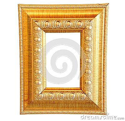 Rocznika drewna złocista rama