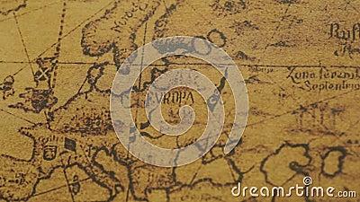 Rocznik mapa Europa kontynenty zbiory wideo