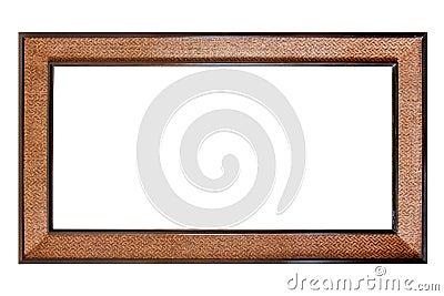 Rocznika drewniana rama odizolowywająca na biały tle
