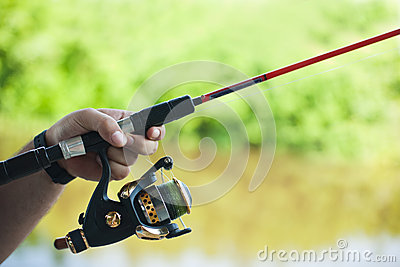 Rod and spinning reel