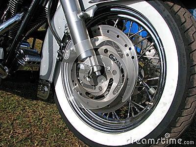 Roda de um motobike americano