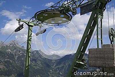 Roda do elevador de cadeira