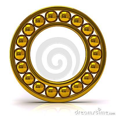 Rodamiento de bolitas de oro