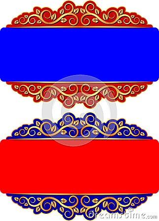 Rode en blauwe achtergrond