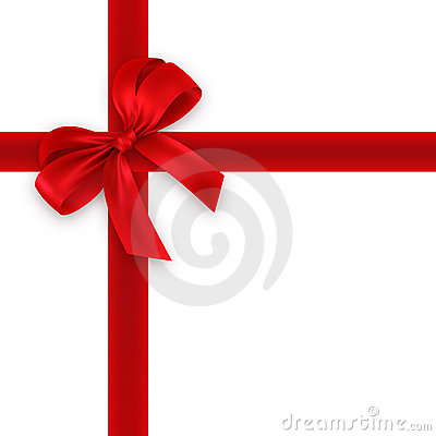 Rode gift, lint, boog