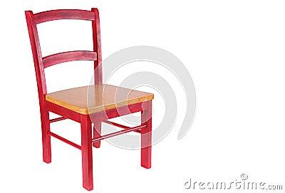 Rode houten stoel royalty vrije stock afbeeldingen afbeelding 4316509 - Houten plastic stoel ...