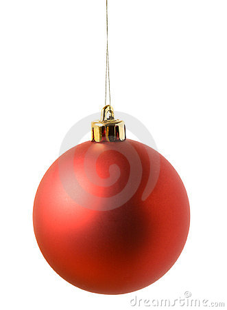 Rode Kerstmisbal