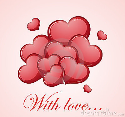 Rode liefdeharten