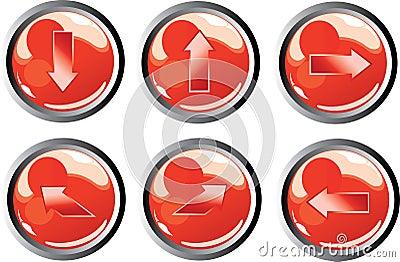Rode pijlknopen