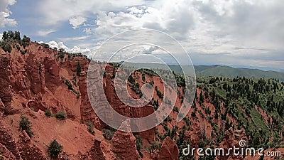 Rode rotsen en Canion in Utah stock footage
