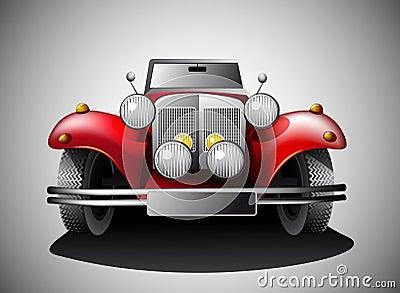 Rode Uitstekende auto