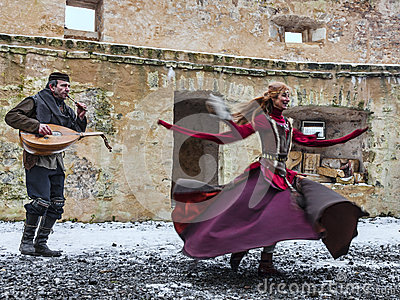Medieval Entertainer Editorial Image