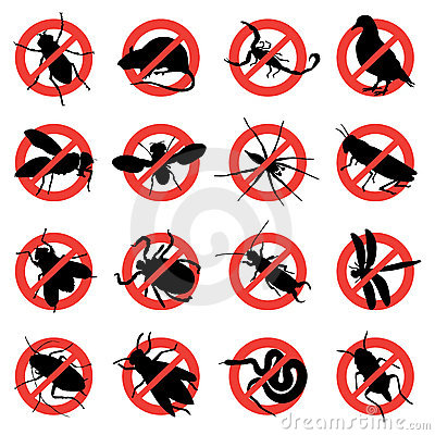 Free Rodent And Pest Warning Signs Royalty Free Stock Photos - 8777568