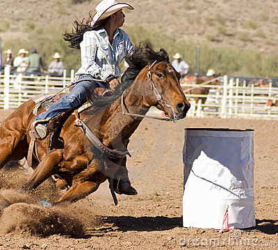 Rodeo Barrel Racing Editorial Stock Photo