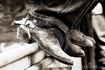 Rodeo Boots & Spurs (BW)