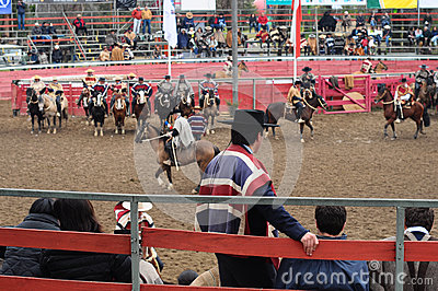Rodeo in chile Editorial Photo