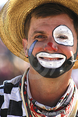 Rodeo Clown Editorial Stock Image