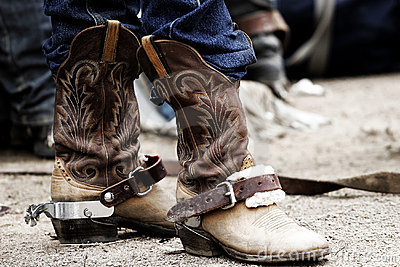 Cowboy Boots & Spurs Royalty Free Stock Image - Image: 7070806