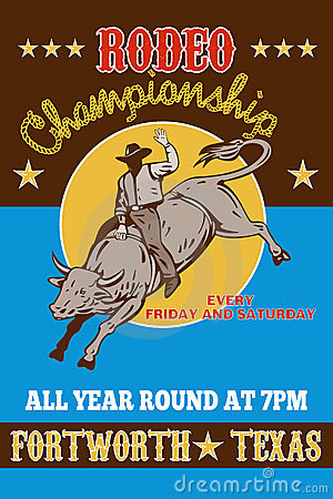Free Rodeo Cowboy Bull Riding Stock Photos - 16538993