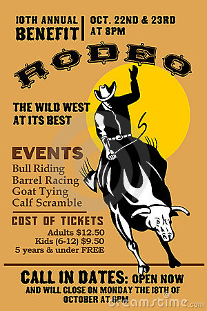 Free Rodeo Cowboy Bull Riding Stock Images - 16539004